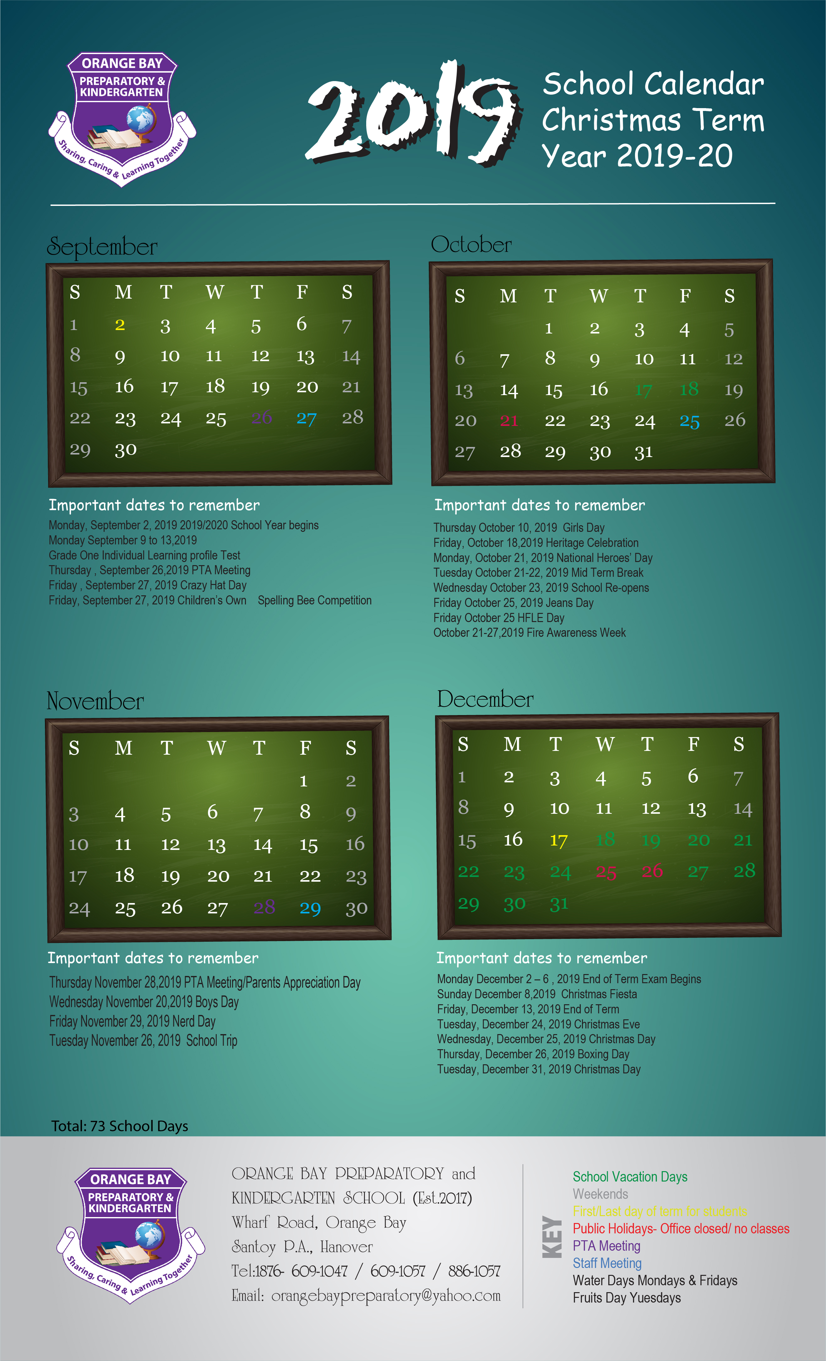 Orange Bay 2019 - Calendar Update (2) - Tamara Shaw